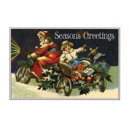 Santa Ride Christmas Postcard