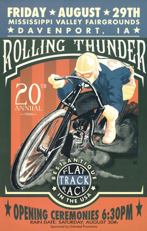 20th Annual 2008 Davenport Motorcycle Races Poster