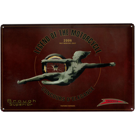 Legend of the Motorcycle Metal Sign