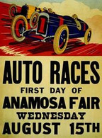 1917 Anamosa, Iowa Fair Race Poster