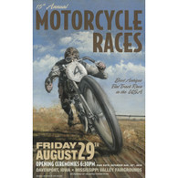 15th Annual 2003 Davenport Motorcycle Races Poster