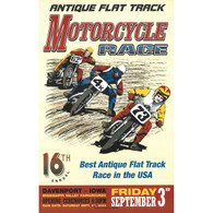 16th Annual 2004 Davenport Motorcycle Races Poster