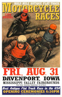 13th Annual 2001 Davenport Motorcycle Races Poster