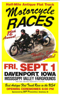 12th Annual 2000 Davenport Motorcycle Races Poster