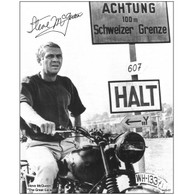Signed Steve McQueen The Great Escape Movie Photo Card