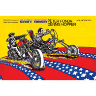 Easy Rider Stars and Stripes Movie Poster