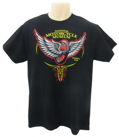 National Motorcycle Museum 'Winged Wheel' T-Shirt front