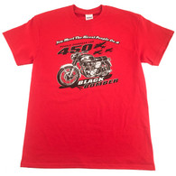 Honda Black Bomber Red T-Shirt front