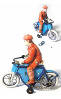 Man on Bike with Chain Tin Toy