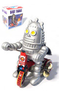 Baby Robot on Tricycle Tin Toy