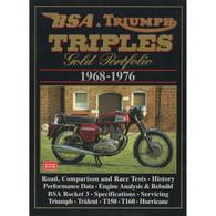 BSA & Triumph Triples Gold Portfolio 1968-1976 front cover