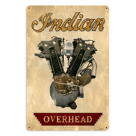 Indian Overhead Engine Metal Sign