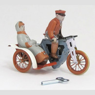 Old Fashioned Sidecar Motorcycle Tin Toy