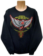 National Motorcycle Museum 'Winged Wheel' Long Sleeve Crew Neck Sweatshirt  front