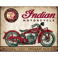 1933 Indian Scout Tin Sign