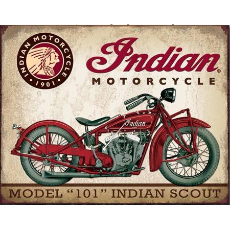 1933 Indian Scout Tin Sign