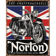 Norton World's Best Road Holder Tin Sign