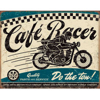 Anvil Moto Motorcycle Company Café Racer Tin Sign