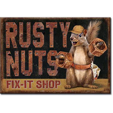 Rusty Nuts Fix-it Shop  Magnet