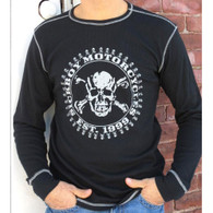 "Sick Boy Men's Black ""Est. 1999"" Thermal Long Sleeve T-shirt FRONT"