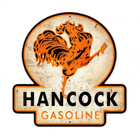 Hancock Gasoline Metal Sign