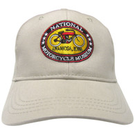 National Motorcycle Museum Khaki Logo Cap