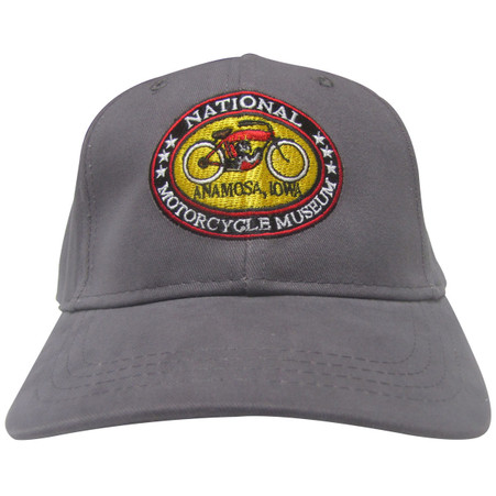 National Motorcycle Museum Charcoal Logo Cap