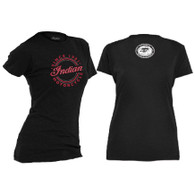 Officially Licensed Indian Circle Bling - Ladies Crewneck