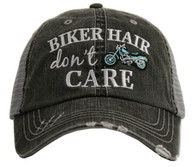 Biker Hair Don't Care Trucker Cap - Mint