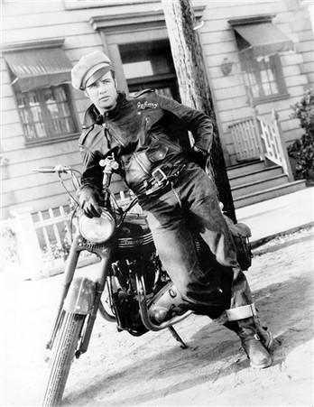 Marlon Brando 'The Wild One' Biker Movie Poster_1