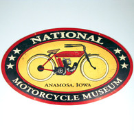 NEW SIZE National Motorcycle Museum Logo Vintage Look Metal Sign