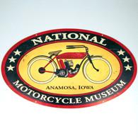 National Motorcycle Museum Logo Vintage Look Metal Sign