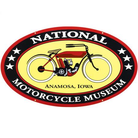 National Motorcycle Museum Logo Metal Sign
