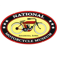 NEW SIZE National Motorcycle Museum Logo Metal Sign
