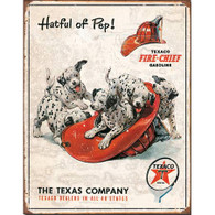Hatful of Pep Texaco Gasoline Metal Sign