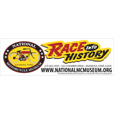 National Motorcycle Museum Race Into History Sticker