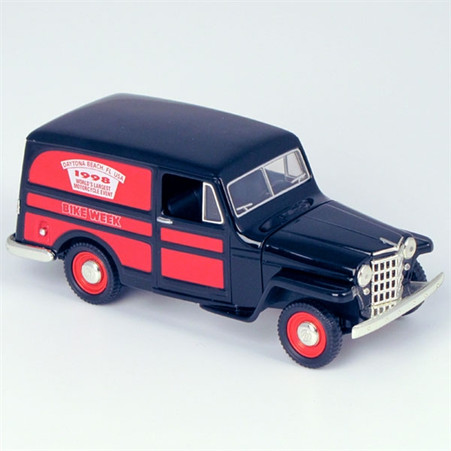 """1953 Willys Jeep """"1998 Daytona Bike Week"""" Delivery Truck Die-Cast Model Coin Bank right side"""