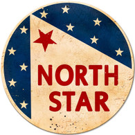 North Star Gasoline Round Metal Sign