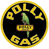 Polly Gas Round Metal Sign