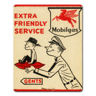 Mobilgas Extra Friendly Metal Sign
