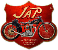 JAP Motorcycle Custom Shape Metal Sign