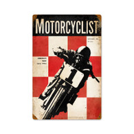 Motorcyclist 1961 Metal Sign
