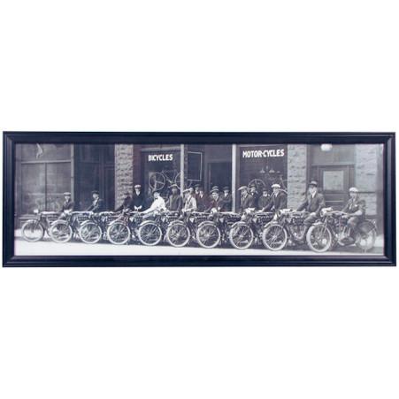 Dayton Motorcycle Panoramic Print