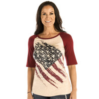 Women's Patriotic Pride Baseball T-shirt front
