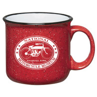 National Motorcycle Museum Red Ceramic Campfire Mug
