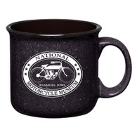 National Motorcycle Museum Black Ceramic Campfire Mug