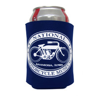 National Motorcycle Museum Can Navy Koozie