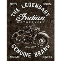 The Legendary Genuine Brand - Indian Motorcycle Tin Sign
