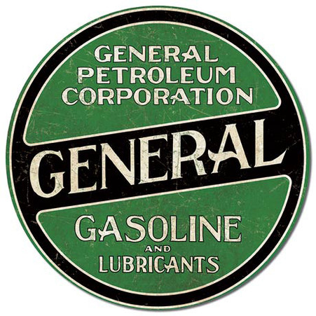 General Petroleum Corporation Gasoline Metal Sign