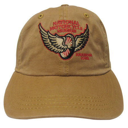 National Motorcycle Museum Winged Wheel Wheat Cap